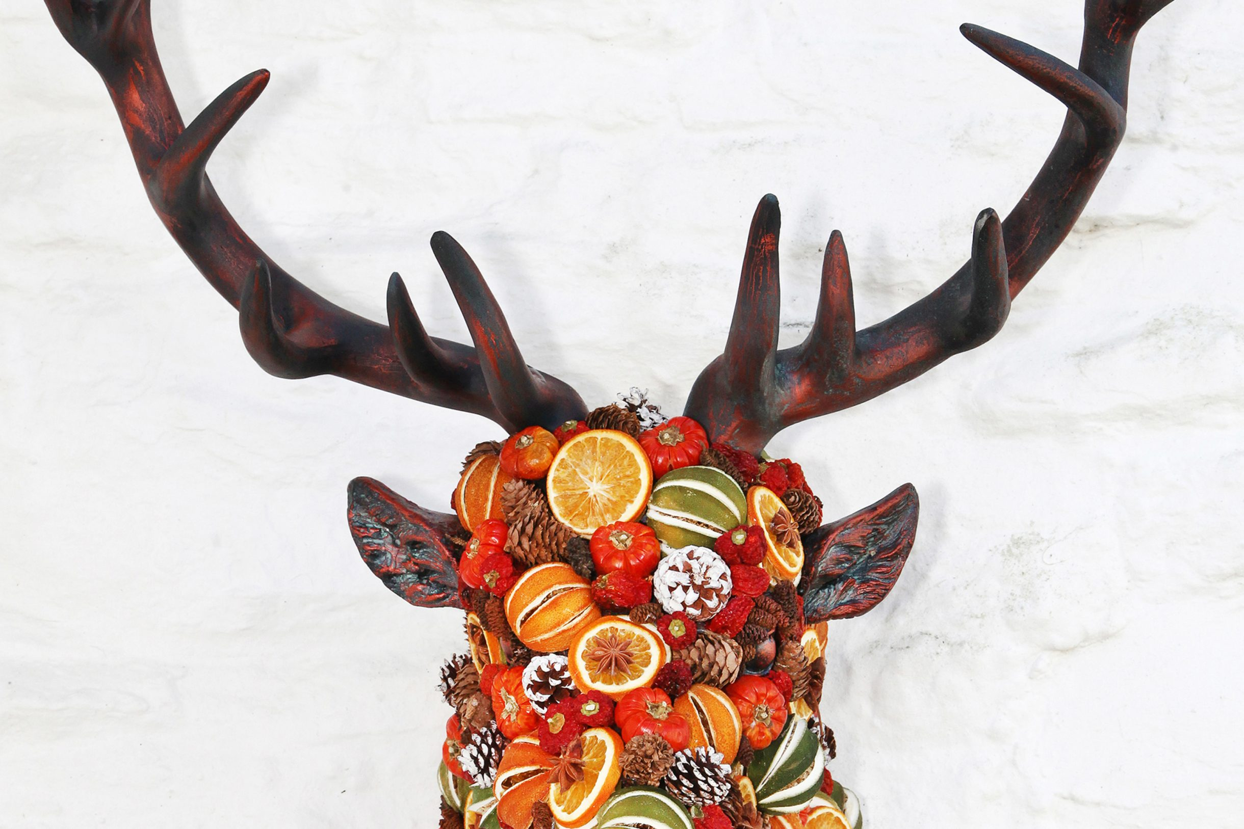 Stags head crafted decoration